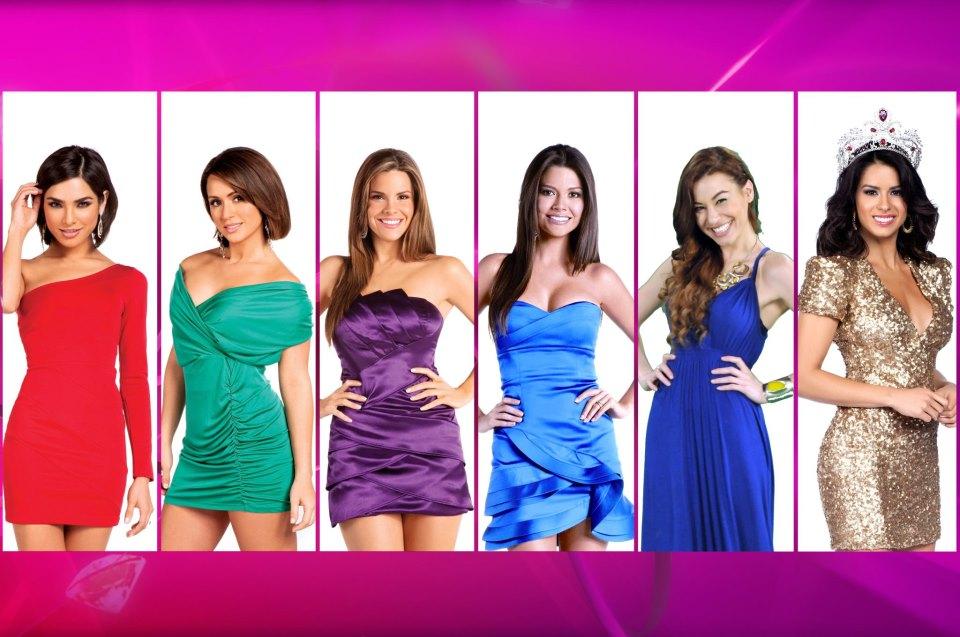 Nuestra Belleza Latina 2010 Ganadora Ana Patricia En la foto las seis    Nuestra Belleza Latina Ganadoras